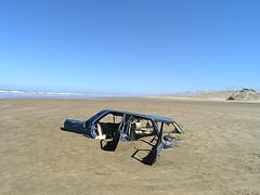 car in the 90 mile beach