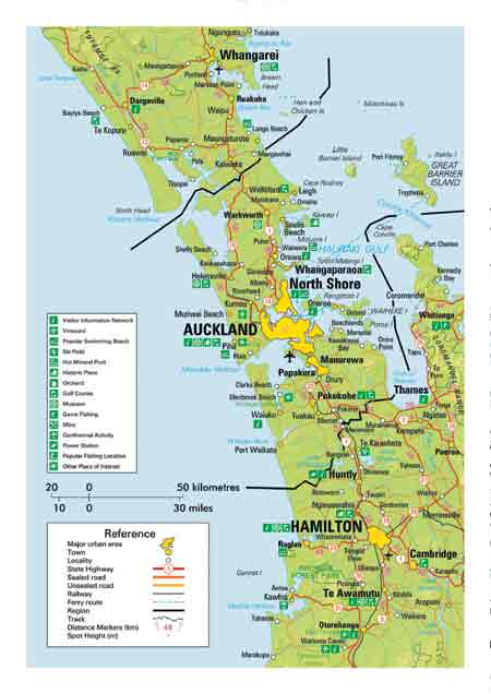 Map of Auckland | New Zealand Travel Guide