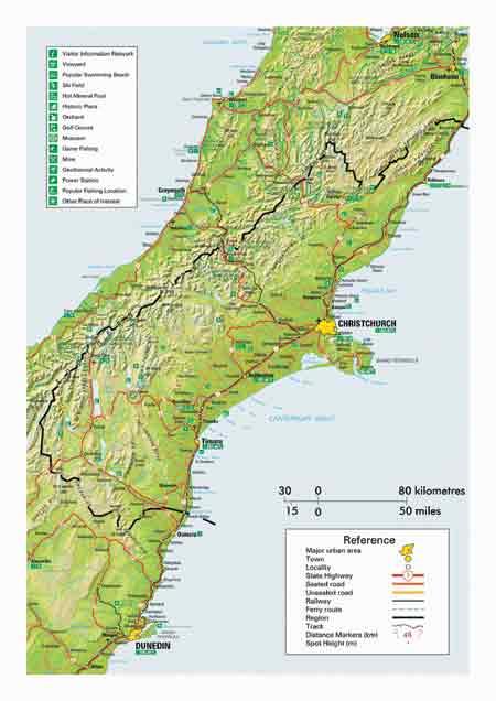 Map of Canterbury