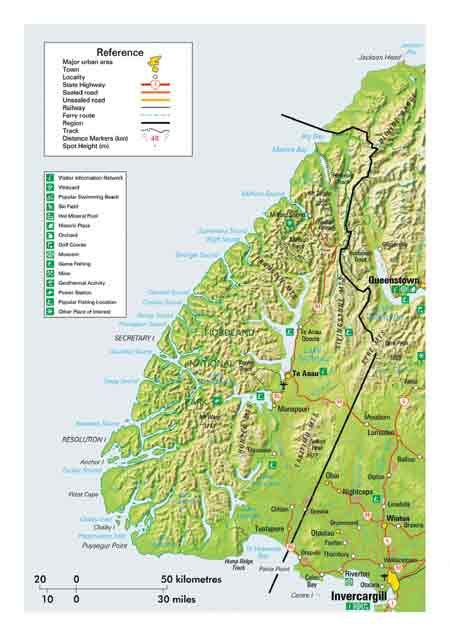 Map of Fiordland