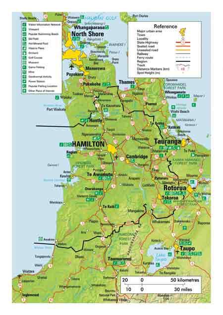 Waikato New Zealand Map.Map Of Waikato