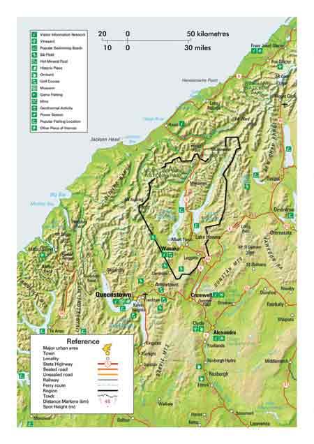 Map of Wanaka